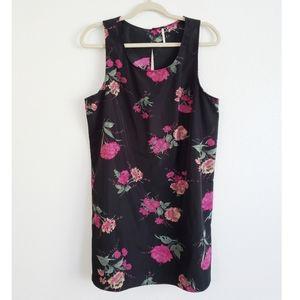 Free People Black Floral Shift Dress